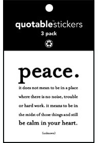 Peace Quotable Stickers 3-Pk