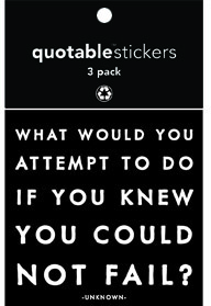 What Would You Attempt Quotable Stickers 3-Pk
