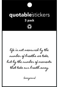 Life Is Not Measured Quotable Stickers 3-Pk