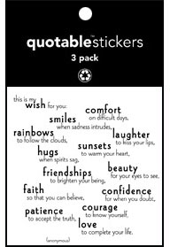My Wish For You Quotable Stickers 3-Pk