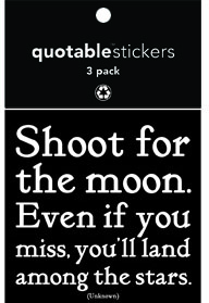 Shoot For The Moon Quotable Stickers 3-Pk