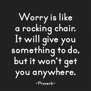 Worry Is Like - Quotable Magnet