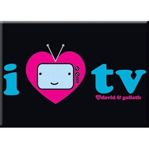 I Heart TV Magnet
