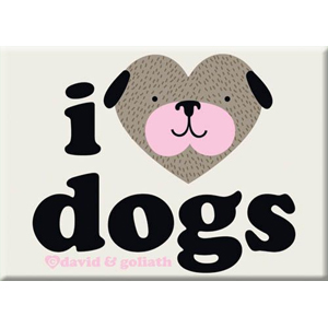 I Heart Dogs Magnet