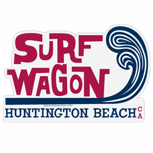 Surf Wagon Beach Town Car Magnet