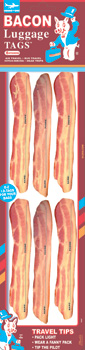 Blue Q Stickers - Bacon Luggage Tags