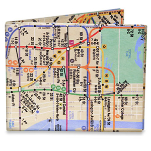 NY City Subway Map Wallet