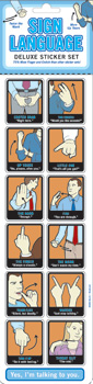 Blue Q Stickers - Sign Language