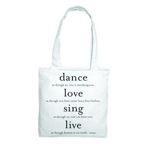 Dance, Love, Sing, Live - Souza Tote Bag