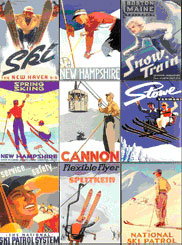 Vintage Skiing Mighty Magnets