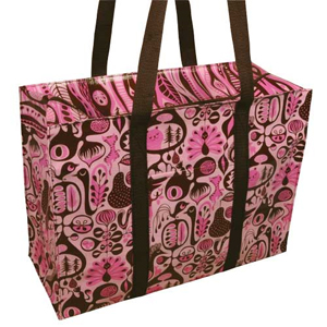 Blue Q Pink & Brown Shoulder Tote
