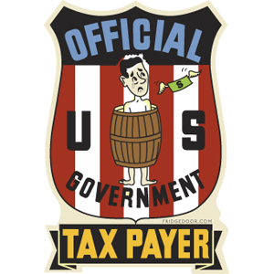 Official US Taxpayer Badge Magnet
