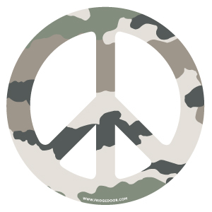 Camoufalge Peace Sign Car Magnet