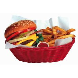 Burger & Fries Basket Magnet