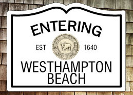 Entering Westhampton Beach NY Fridge Magnet