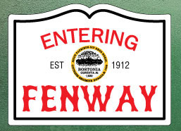 Entering Fenway Fridge Magnet