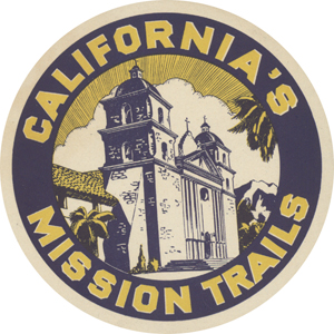 California's Mission Trails Car Magnet