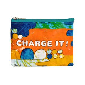 Blue Q Charge It Coin Purse