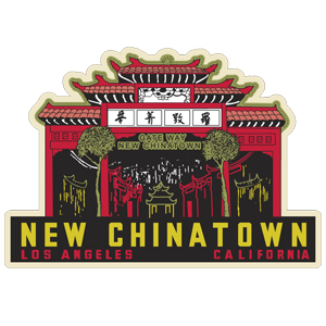 New China Town L.A. Car Magnet