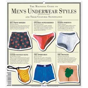 Mens Underwear 6 Pc Magnet Set