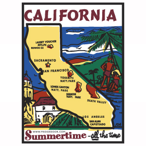 California Summer Time Map Car Magnet