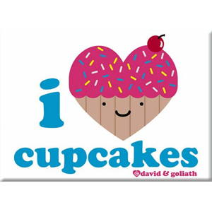 I Heart Cupcakes Magnet