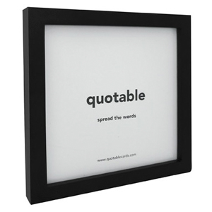 Quotable Frame Black