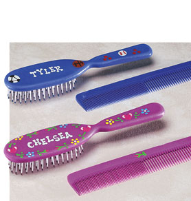 Personalized Comb and Brush Set