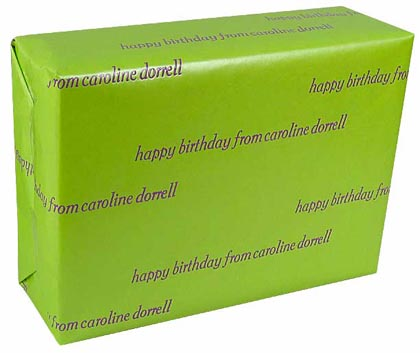 Personalized Gift Wrap<br>Granny Smith Green Pearlized Finish