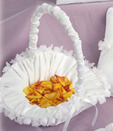 Chiffon Flower Collection Flower Girl Basket
