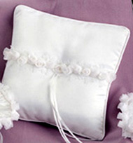 Chiffon Flower Collection Ring Pillow