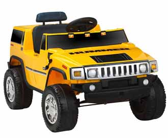 Battery-Powered Hummer Ride-On - Yellow