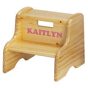Little Colorado Personalized Wood Child Step Stool