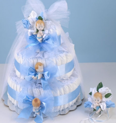 Diaper Cake Delight-Blue