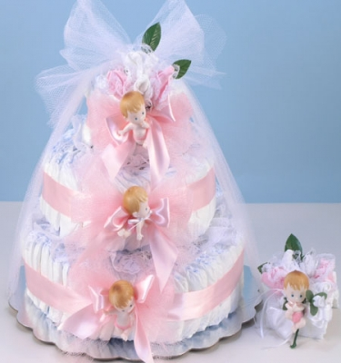 Diaper Cake Delight-Pink