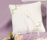 Ivory Floral Vine Collection Ring Pillow
