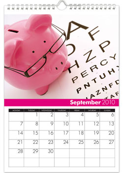 Personalized Calendar - All Things Pink