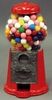 "9"" Metal Gumball Machine Red"