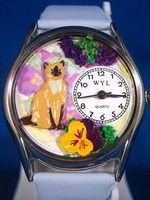 Personalized Siamese Cat Watches