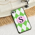 Personalized Green Diamonds iPhone Cover