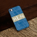 Personalized Blue Diamonds iPhone Cover