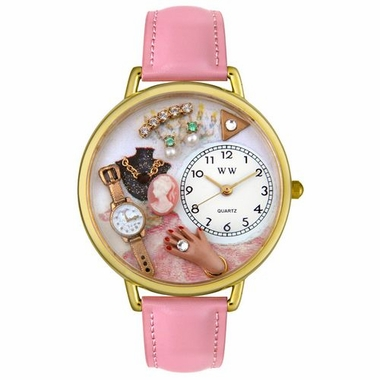 Personalized Jewelry Lover Pink Unisex Watch