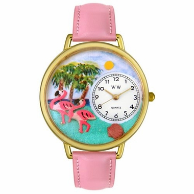 Personalized Flamingo Unisex Watch