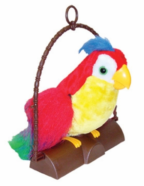 Pete the Repeat Talking Parrot