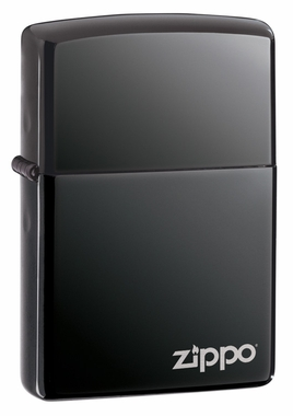 Black Ice with Logo Zippo Lighter