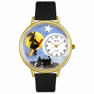 Personalized Halloween Flying Witch Watch