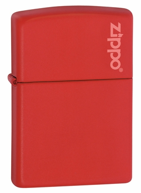 Red Matte with Logo Zippo Lighter