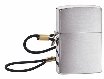 Lossproof with Loop & Lanyard Brushed Chrome Zippo Lighter