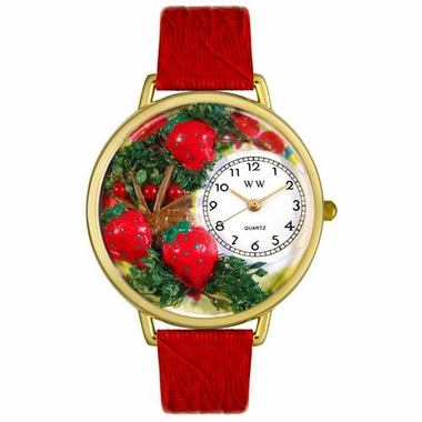 Personalized Strawberries Unisex Watch