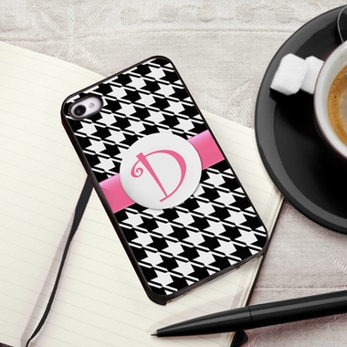 Personalized Houndstooth iPhone Cover